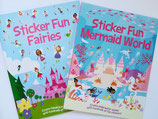 "Set of Sticker Books ""Fairies"" and ""Mermaid World"""