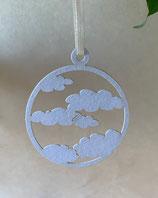 Anhänger Wolken Farbton blau