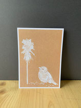 Postkarte Spatz