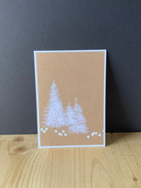 Postkarte Tannenbäume