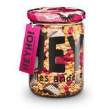 FRÜHSPORTFREUNDE Handmade Bio Granola mit Himbeeren & Kokos-Chunks