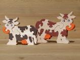 Puzzle-Kuh farbig