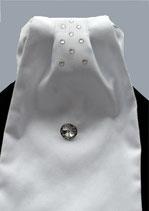 Plastron CLASSIC weiß_Streifen Glam
