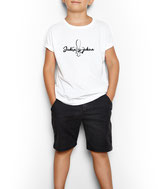Kinder T-Shirt weiß / schwarz - MOTIV 5