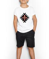 Kinder T-Shirt weiß / schwarz - MOTIV 1