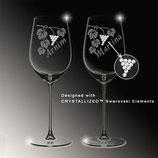 Weinglas stilvoll von Hand geätzt und veredelt