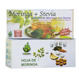 12) INFUSIONES DE MORINGA ECO + STEVIA (3 CAJAS DE 25 FILTROS CADA CAJA)