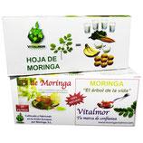 11) MORINGA INFUSIONES VITALMOR ORIGINAL (3 CAJAS DE 25 FILTROS CADA CAJA)