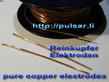 Kupferelektroden 2x 12cm