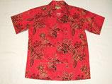 オリジナル'40S アロハハワイxゴールド縁取り 赤 綿