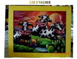Les 3 vaches - tableau 3D