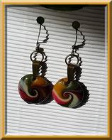 Priska - boucles d'oreilles polymère