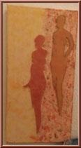 Deux silhouettes de femmes - tableau home-déco