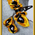 CLO-JAU-BAR-01 - Clochettes jaune - barrette à cheveux