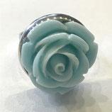 """Ring Blume """"Aqua"""", Edelstahl, ca. 18mm"""