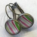 "Ohrringe ""Stripes"", antik"