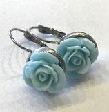 "Ohrringe Blume ""Aqua"", Edelstahl"