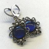 """Ohrringe Ornament """"Blau"""", antik"""
