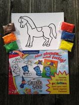 "großes Set Sandbild ""Pferd"""