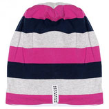 STRIPED CAP - MARINE/CERISE