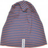 FLEECE CAP - STRIPED & ORANGE BLUE