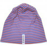 FLEECE CAP - 3 STRIPES BLUE/ORANGE