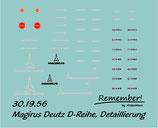 Decal Magirus Deutz D-Reihe, Detaillierung