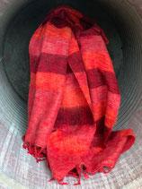 Nepal Decke - rot gestreift