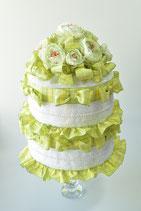 エレガントフラワーブーケ2段おむつケーキ