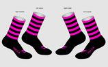 Socken pink Streifen