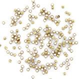 Perles à écraser or 2mmx50