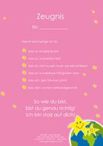 10 Zeugnisse rosa