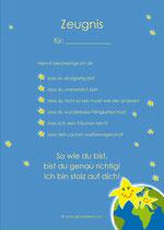 10 Zeugnisse blau, DIN A4