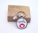 Schlüsselanhänger Hebamme mit Herz