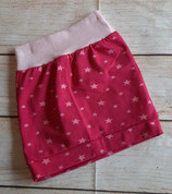 Rock  Pink mit rosa Sternen Gr. 62/68 Einzelstück