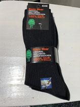 Socken 100% Baumwolle schwarz
