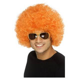 Perücke Lockenkopf Orange Afro