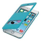 Flip Cover Apple Iphone 6 Plus mit Fenster Hellblau