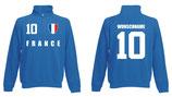 Frankreich Pullover WM 2018 Druck/Name Blau