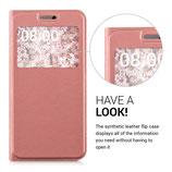 Flip Case Cover Hülle LG G5 Rosa Fenster