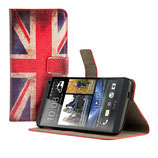 Leder Tasche HTC One M7 Flagge England