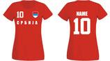 Serbien WM 2018 T-Shirt Damen Rot