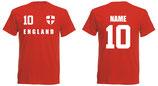 England WM 2018 T-Shirt Kinder Rot