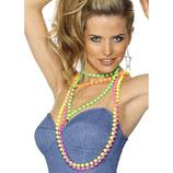 Perlenkette Neon 80er Jahre 4er Pack