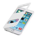 Flip Cover Apple Iphone 6 Plus mit Fenster Weiss