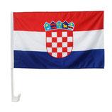 2x Autofahne Autoflagge Kroatien WM 2014