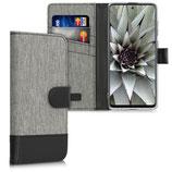 Wallet Case Samsung Galaxy A71 Canvas Grau-Schwarz