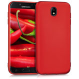 TPU Case Samsung Galaxy J7 2017 Dunkelrot