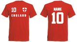 England WM 2018 T-Shirt Druck/Name Rot