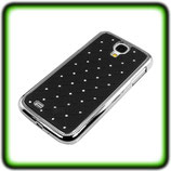 HARD COVER RHINESTONE F SAMSUNG GALAXY S4 I9500 I9505 BLACK